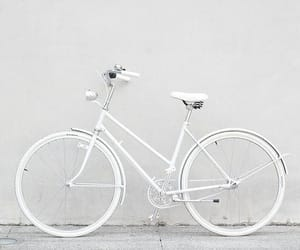 aesthetic, bicycle, and white image