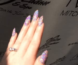 gif, glitter, and nails image