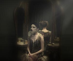 dark, woman, and harlequin image