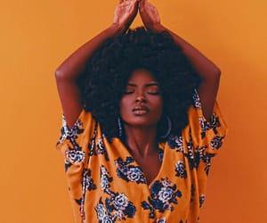 Afro, orange, and photography image