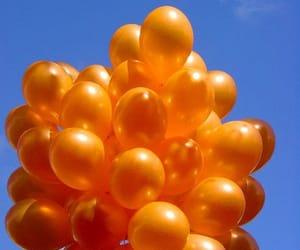 balloon, bubble, and orange image
