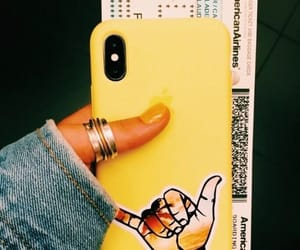 yellow and iphone image