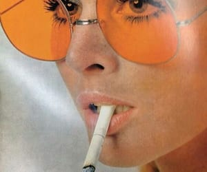 cigarette, sunglasses, and face image
