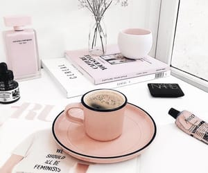 pink, coffee, and drink image