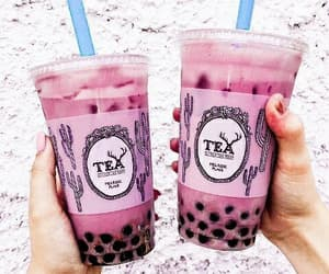 drinks, boba, and bubble tea image