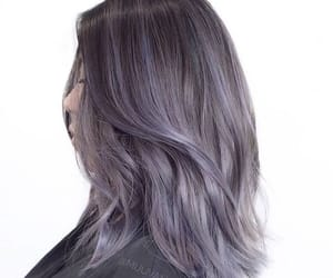 brown, hair, and purple image