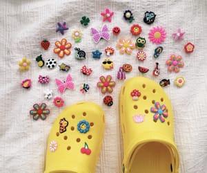 carefree, crocs, and yellow image