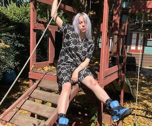 grey hair, play date, and billie eilish image