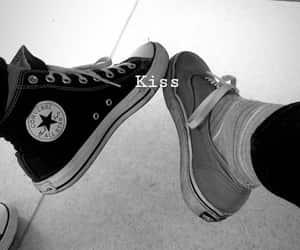 black, black & white, and converse image