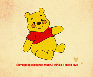 bear, pooh, and love image
