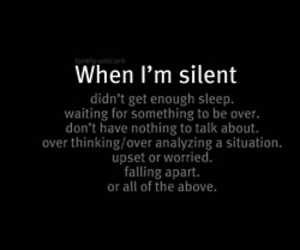 quotes, silent, and sad image