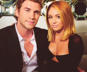 miam, miley cyrus, and liam hemsworth image