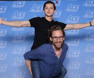 tom holland, tom hiddleston, and Marvel image
