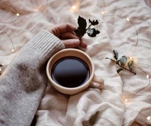 bed, coffee, and enjoy image