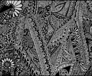 art zentangle fineliner and pen black and white image