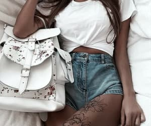 backpack, fashion, and outfit image