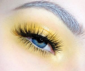 eyes, tumblr, and yellow image