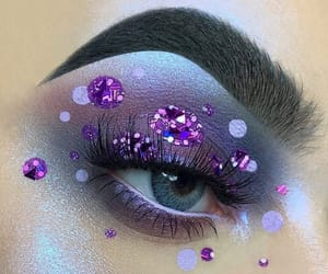 eyes, glitter, and purple image