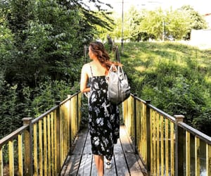 bridge, walking, and curly hair image
