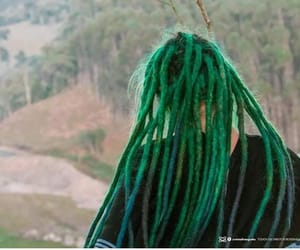 dreadlocks, dreads, and green dreads image
