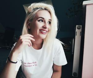 blonde girl, blonde hair, and fashion image