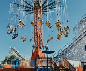 adrenaline, amusement park, and carnival image