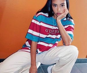 girl, fashion, and guess image