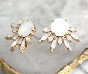 bling, style, and swarovski earrings image
