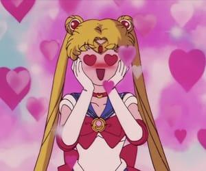 sailor moon, heart, and kawaii image