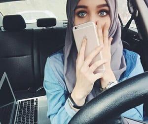 hijab, eyes, and حجاب image