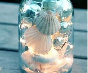 light, summer, and shell image