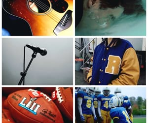 aesthetic, american football, and blue image