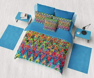 bedroom decor, machine washable, and blue bedroom image