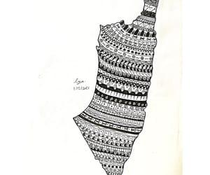 art, palestine, and mandala image
