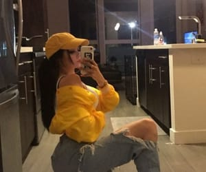 yellow, maggie lindemann, and theme image