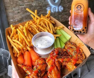 carrots, ketchup, and grilled chicken image