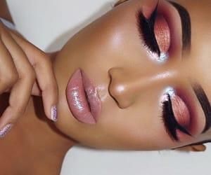eyebrows, eyeshadow, and lips image