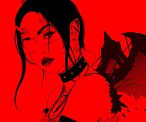 art, demon, and drawing image
