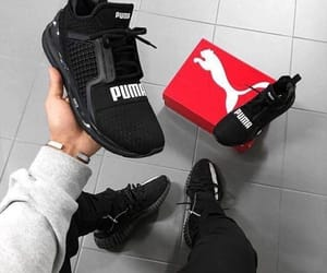 sneakers, puma, and shoes image