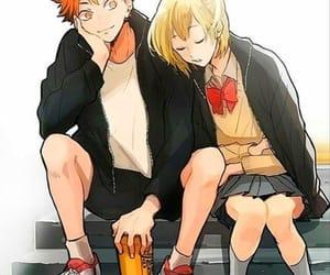 anime, couple, and haikyuu image
