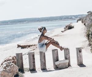beach, fashion blogger, and holidays image