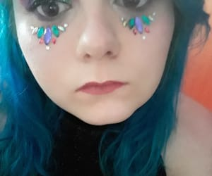 eyeshadow, pink, and glitter image