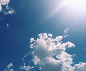 blue, clouds, and nature image