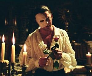 gerard butler, Phantom of the Opera, and rose image