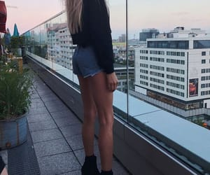 beauty, denim, and legs image