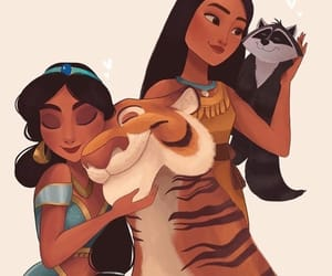 animal, disney, and jasmine image