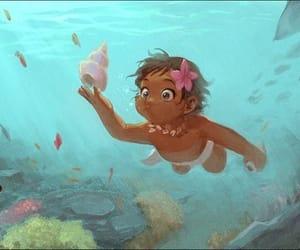 babe, moana, and ocean image