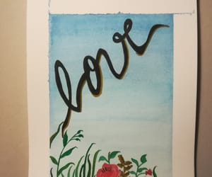 watercolors, love, and ​amor image