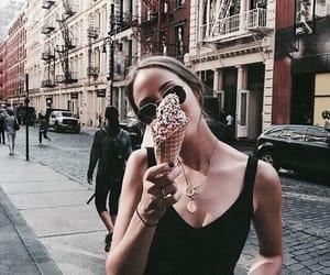 ice cream, girl, and city image