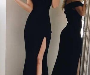 dress, black, and prom dress image